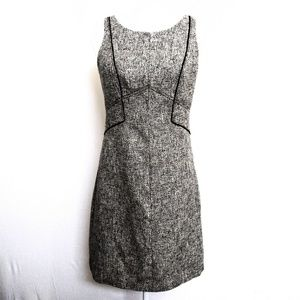 WHBM Black&Gray Tweet Sleeveless Dress Sz 2